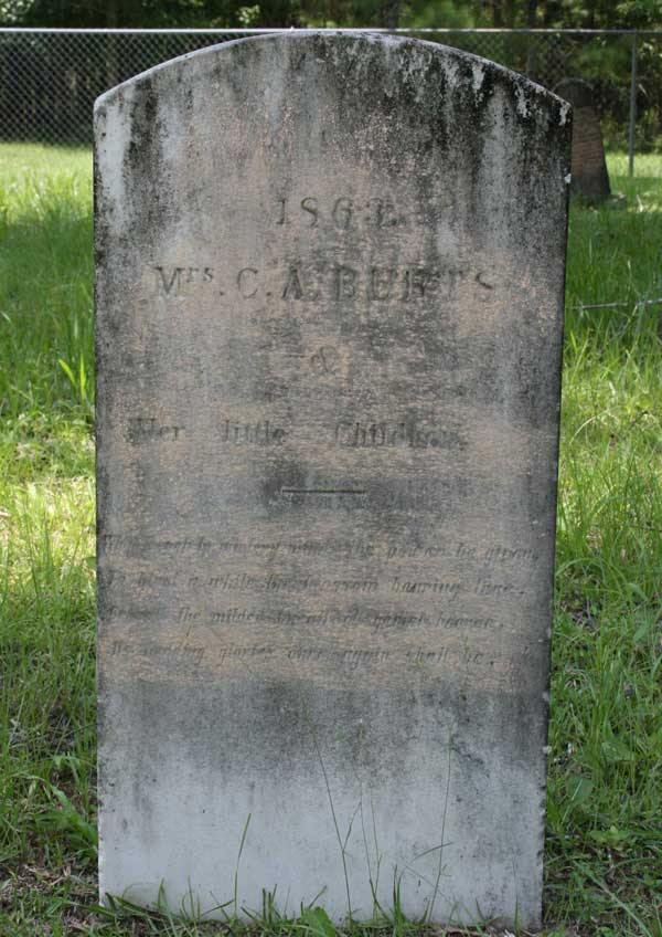 C.A. Burts Gravestone Photo