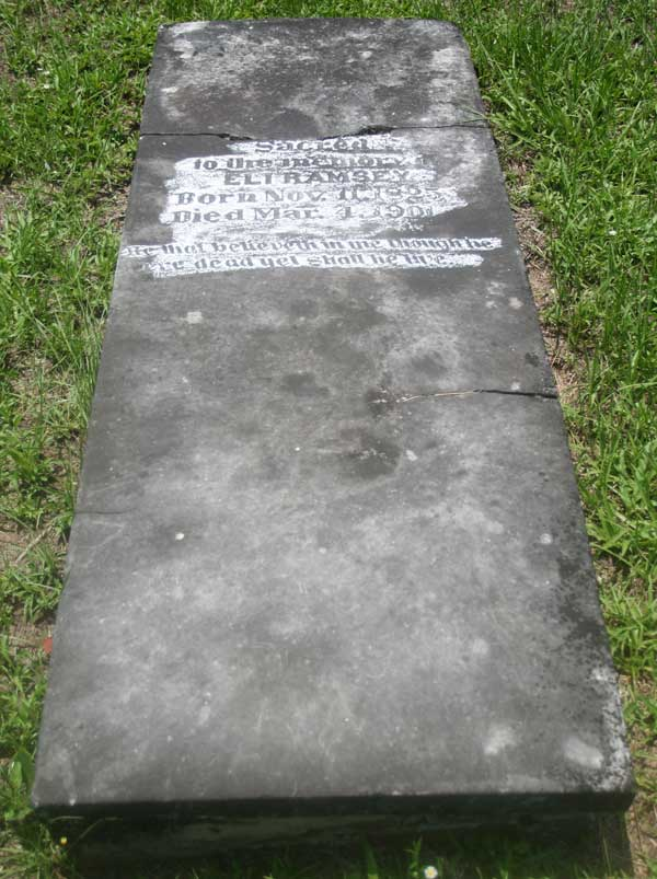 Eli Ramsey Gravestone Photo