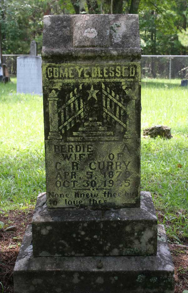 Berdie A. Curry Gravestone Photo