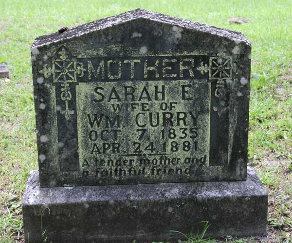 Sarah E. Curry Gravestone Photo