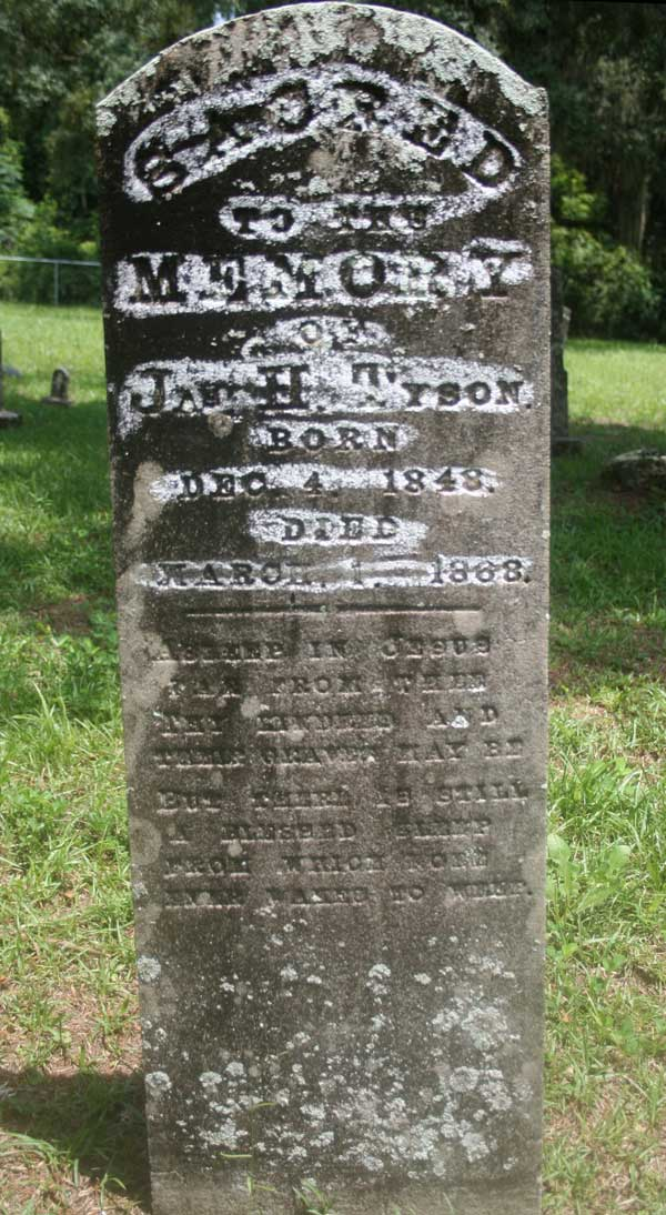 Jas H. Tyson Gravestone Photo