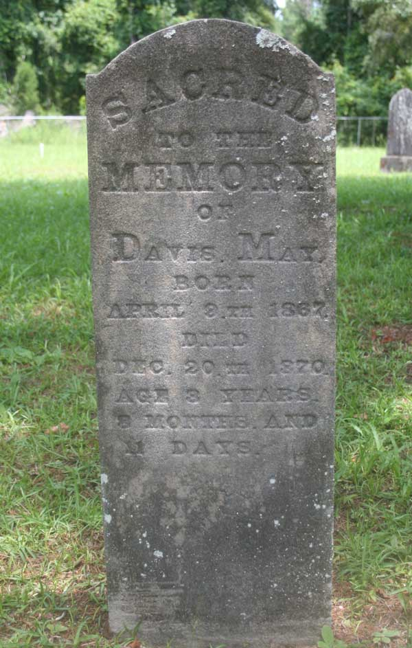 Davis May Gravestone Photo