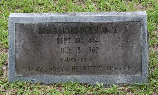 Leila Johnnie Jones Gravestone Photo
