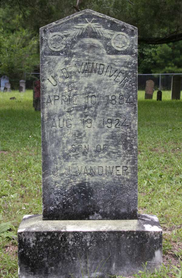 U.D. Vandiver Gravestone Photo