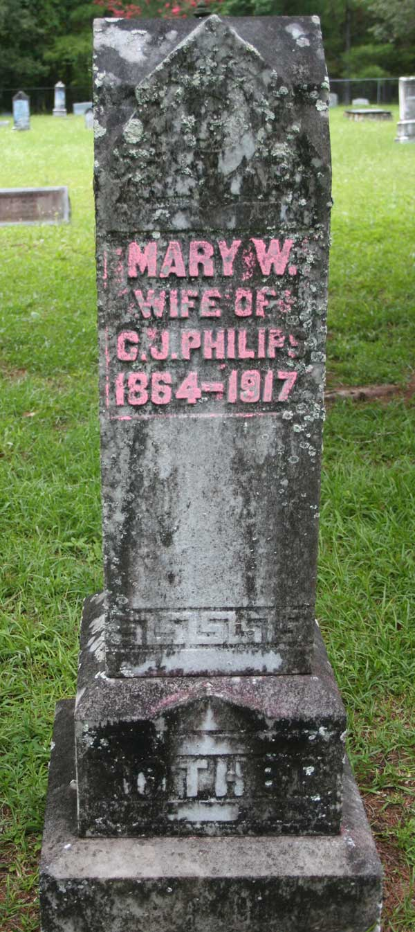 Mary W. Philips Gravestone Photo