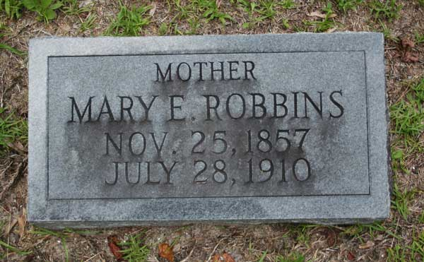 Mary E. Robbins Gravestone Photo