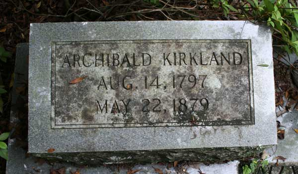 Archibald Kirkland Gravestone Photo