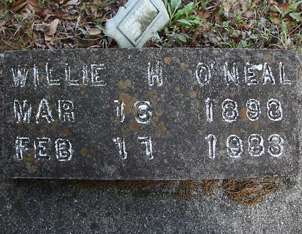 Willie H. O'Neal Gravestone Photo