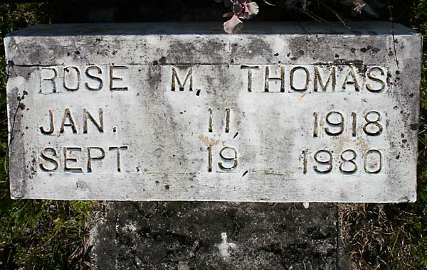 ROSE M. THOMAS Gravestone Photo