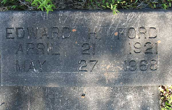 EDWARD H. FORD Gravestone Photo