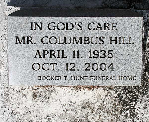 COLUMBUS HILL Gravestone Photo