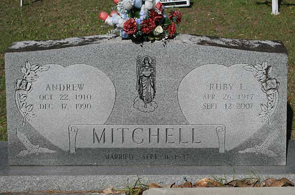 Andrew & Ruby L. Mitchell Gravestone Photo