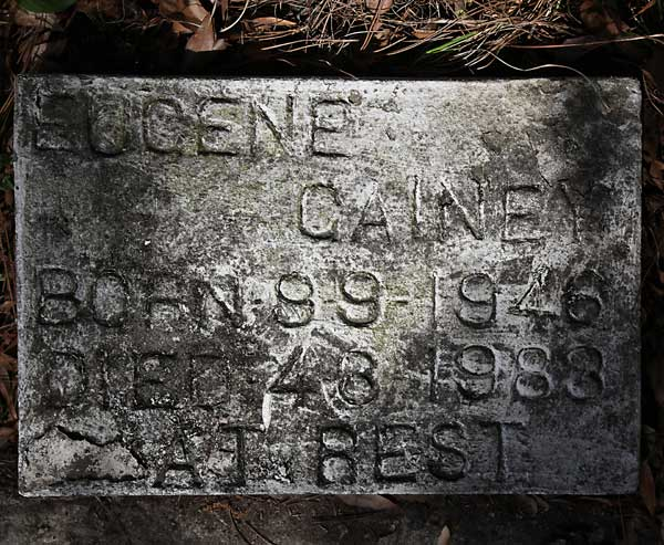 Eugene Gainey Gravestone Photo