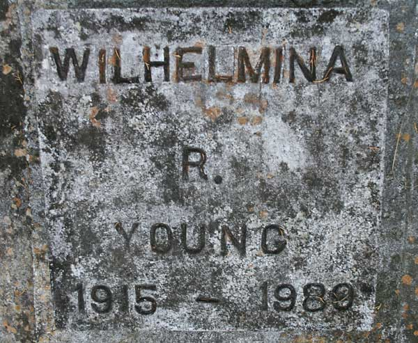 Wilhelmina R. Young Gravestone Photo