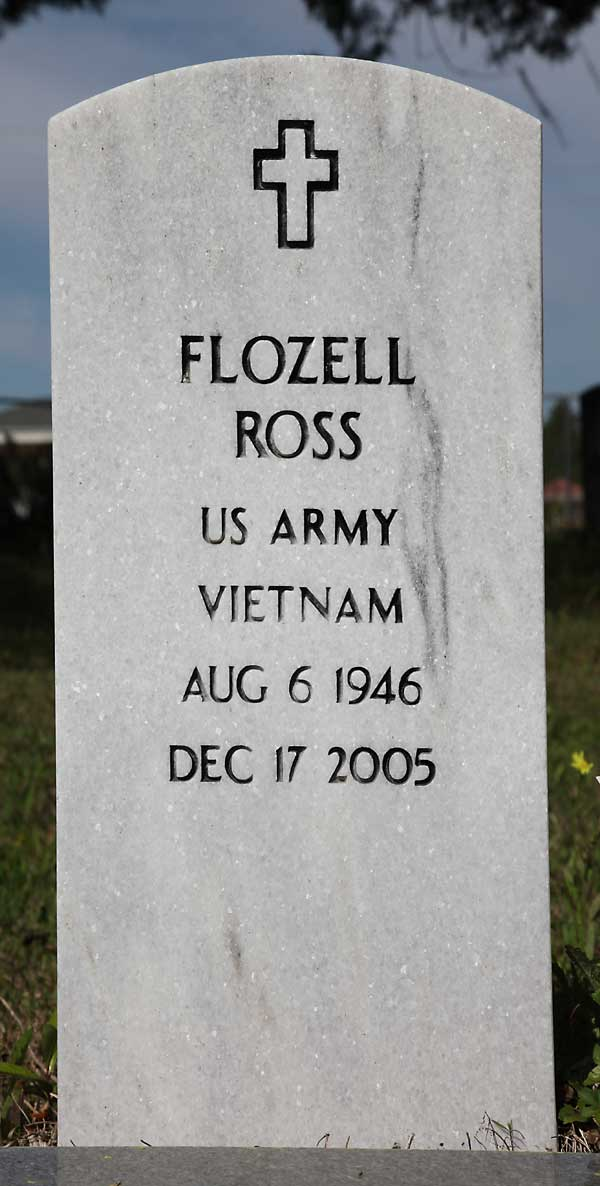 Flozell Ross Gravestone Photo