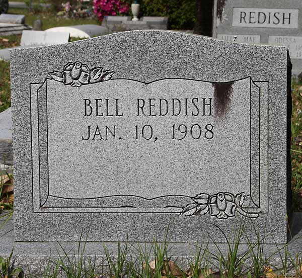 Bell Reddish Gravestone Photo
