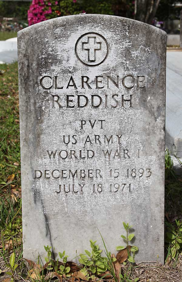 Clarence Reddish Gravestone Photo