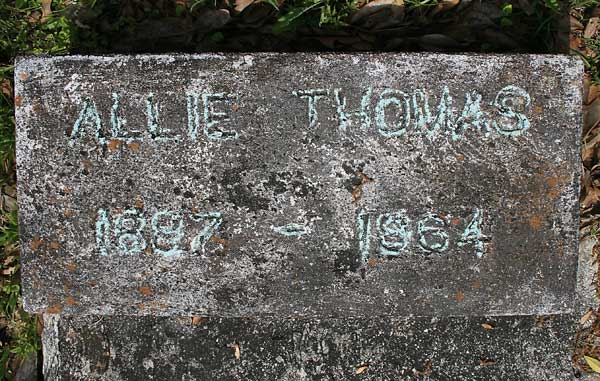Allie Thomas Gravestone Photo
