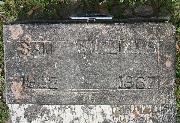 Sam Williams Gravestone Photo