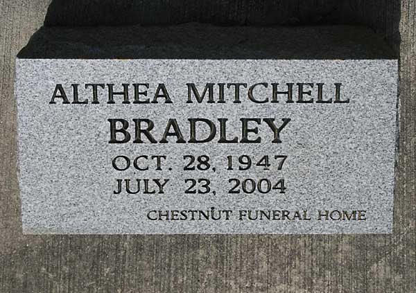 Althea Mitchell Bradley Gravestone Photo