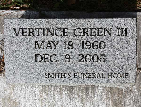 Vertince Green Gravestone Photo