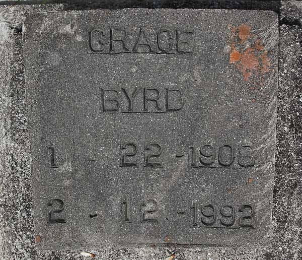Grace Byrd Gravestone Photo