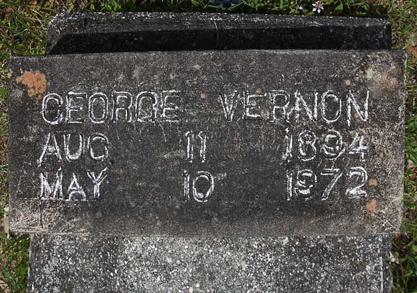 George Vernon Gravestone Photo