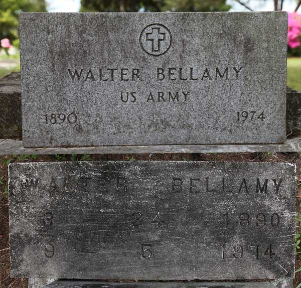 Walter Bellamy Gravestone Photo