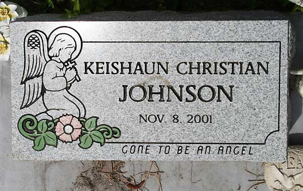 Keishaun Christian Johnson Gravestone Photo