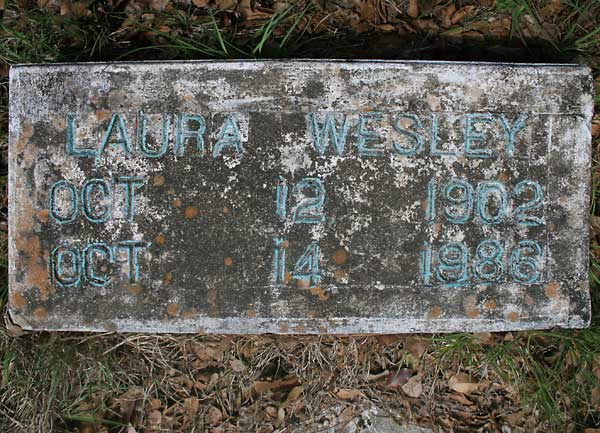Laura Wesley Gravestone Photo