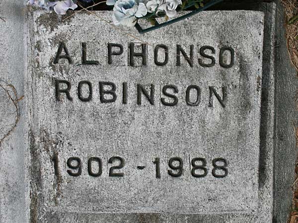 Alphonso Robinson Gravestone Photo