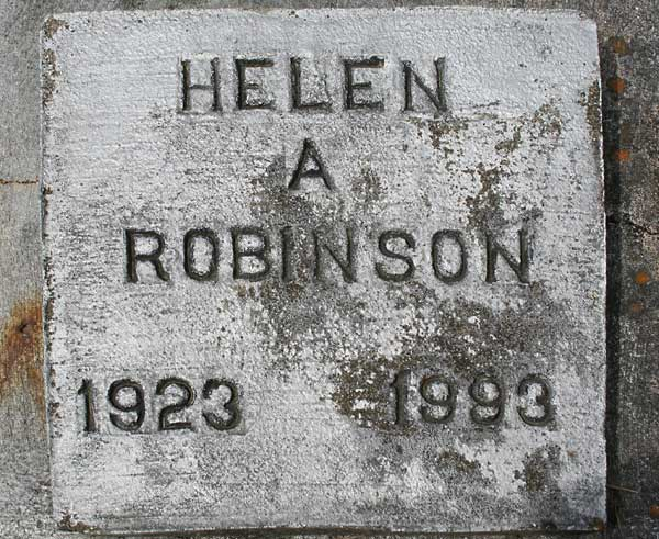 Helen A. Robinson Gravestone Photo