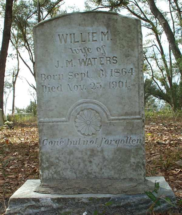 Willie M. Waters Gravestone Photo