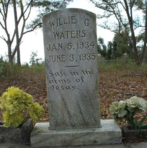 Willie G. Waters Gravestone Photo