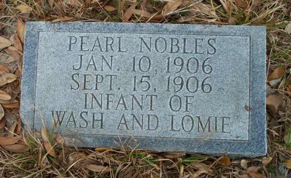 Pearl Nobles Gravestone Photo