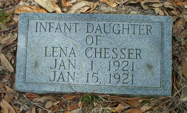 Infant Daughter Chesser Gravestone Photo
