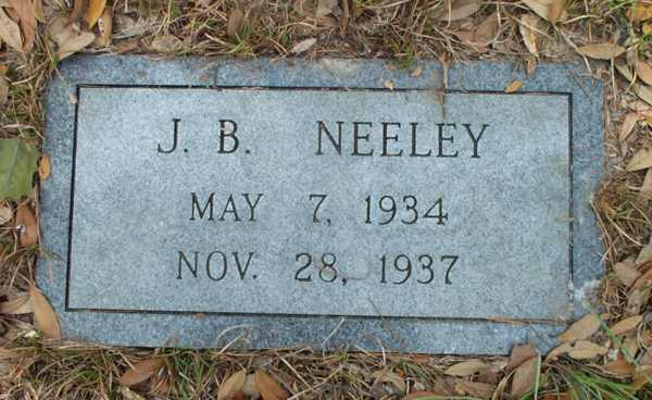 J.B. Neeley Gravestone Photo