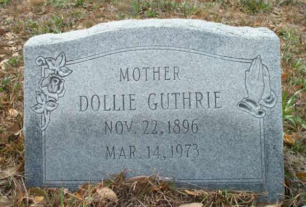 Dollie Guthrie Gravestone Photo