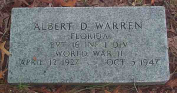Albert D. Warren Gravestone Photo