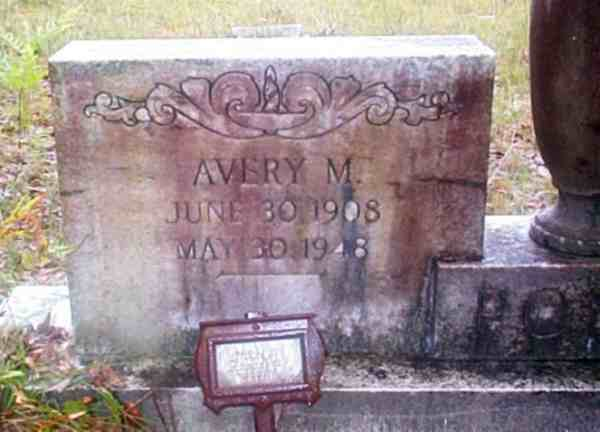 Avery M. Pons Gravestone Photo