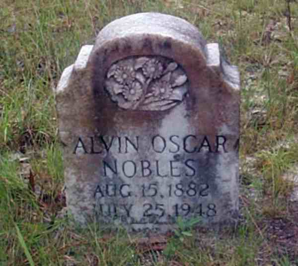 Alvin Oscar Nobles Gravestone Photo