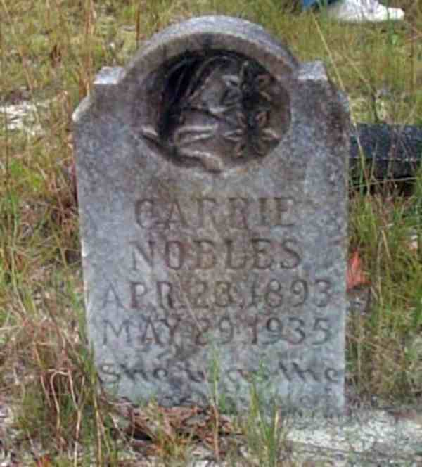 Carrie Nobles Gravestone Photo