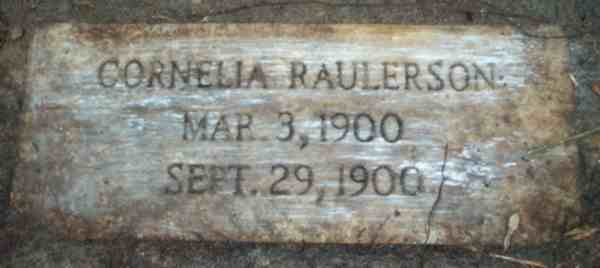 Cornelia Raulerson Gravestone Photo