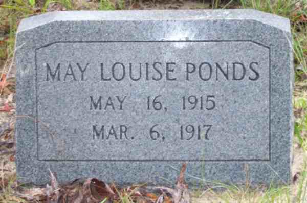 May Louise Ponds Gravestone Photo