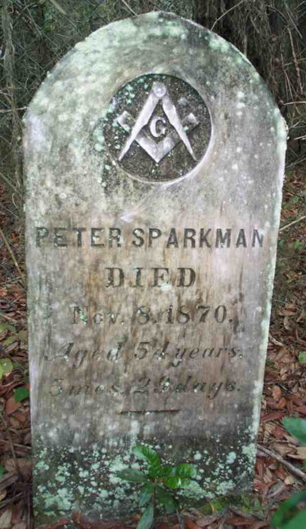 Peter Sparkman Gravestone Photo