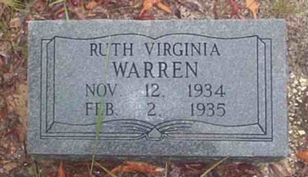 Ruth Virginia Warren Gravestone Photo