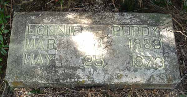 Purdy Lonnie Gravestone Photo