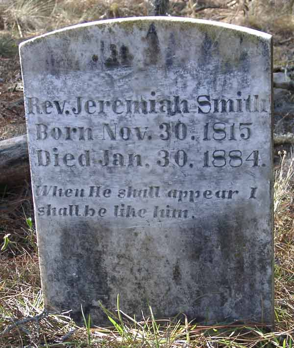 Rev. Jeremiah Smith Gravestone Photo