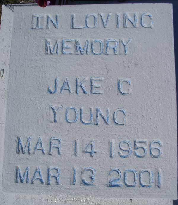 Jake C. Young Gravestone Photo
