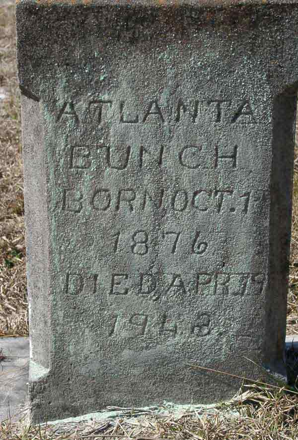 Atlanta Bunch Gravestone Photo